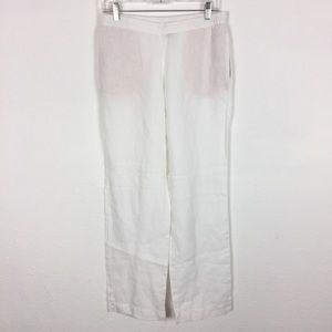 J. Jill Linen Pants White XS Pockets